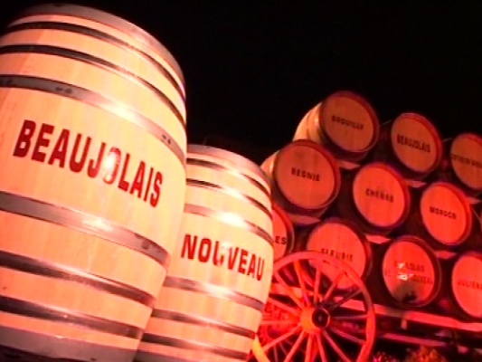 beaujolais barrels