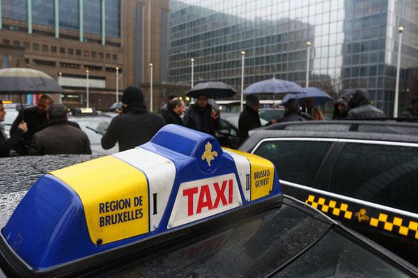 Такси из Бельгии во Францию.