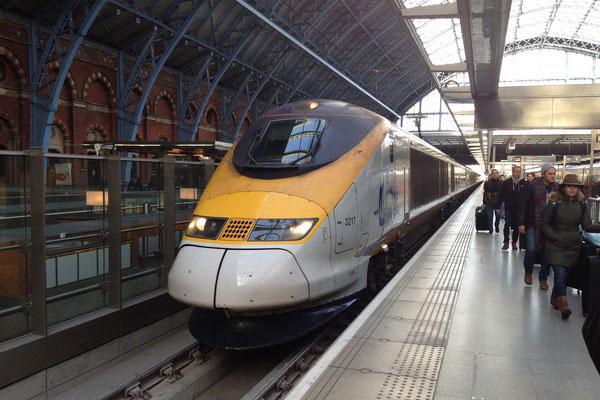 Как добраться из Парижа в Лондон на поезде.