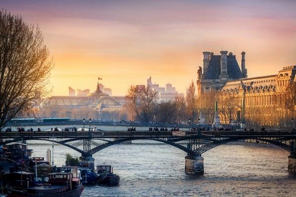 Париж зимой.