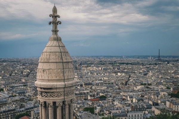 Париж со смотровой площадки.